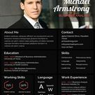 MBA Fresher Resume/CV Template - PSD