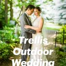 Trellis Outdoor Wedding Photos