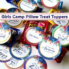 Young Women Treat Tags | Girl's Camp Pillow Treat Toppers
