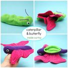 Caterpillar and Butterfly Reversible Toy - whileshenaps.com