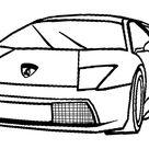 Printable Lamborghini Coloring Pages For Kids