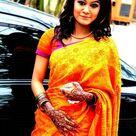 Beautiful Girl in Orange Saree