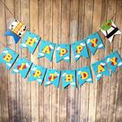 Toy Story Inspired Party Banner - First Birthday, Movie, Woody, Buzz Light Year, Photo Prop