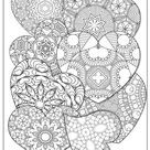 25 HEART COLORING Pages Adult Coloring Book Volume 1 | Etsy