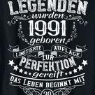 Legenden wurden 1991 geboren mit 30 beginnt das Leben T-Shirt: Amazon.de: Bekleidung