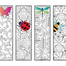 Insect Bookmarks – PDF Zentangle Coloring Page