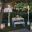 Birkenstamm Lichterkette selber bauen   DIY Idea
