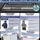 Digital character analysis graphic organizers for S.E. Hinton's novel,