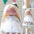 Baby Gift Doll Tilda Doll Handmade Interior Art Doll Custom | Etsy