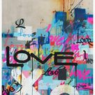 Karlos Marquez - Concrete Love - Framed Limited Edition Print - Contemporary - Graffiti Inspired