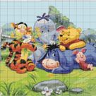 Family Winnie The Pooh 502 Modern Cross Stitch Pattern Counted   Etsy