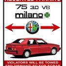 1988 Alfa Romeo 75 3 0 V6 Milano Verde 8x10 11x14 parking garage plate