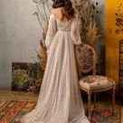 Bohemian Wedding gown from soft Lace , Hippie style dress, Romantic and Dreamy Wedding Dress