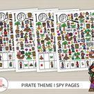 Pirate I spy, Pirate activity, Pirate kids, I spy printable