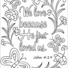 We Love Because He First Loved Us coloring page | Free Printable Coloring Pages
