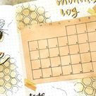 25+ Bee Themed Bullet Journal Spreads For 2021 - Crazy Laura