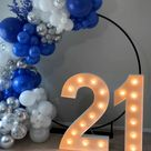 Royal Blue Balloon Backdrop