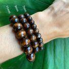 Wood beaded bracelet - 8 / 9mm painted wood