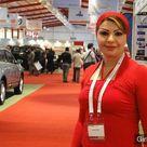 Arab Women in Red Dress