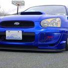 Blue White Black Fog Light Lamp Bumper Bezel Cover Cap For 2004 2005 Subaru Impreza WRX STi