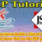 Calling Servlet to build a List of data from database and show this on the JSP page in table
