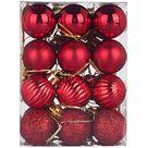 ALmi Neue 30mm Weihnachten Xmas Tree Ball Kugel, Hanging Home Party Ornament Nachbildung, Weihnachten Glitter Kugeln Kugeln Xmas Tree Ornament
