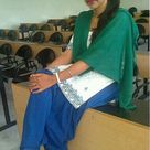 Pakistani Girl in green touch Shalwar kameez