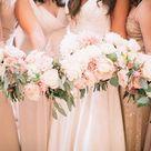 Adore This Elegant Blush, Ivory + Champagne Wedding Palette
