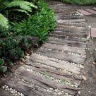 Rustic wood path.
