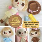 Animal crossing persona felt doll PATTERN \sewing pattern \ doll clothes pattern \ basic doll tutorial