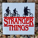 Stranger Things Decor, The Upside Down, Eleven, Waffles, Stranger Things Sign, Hand Painted, Movie Quotes, Home Theater Sign, Wood Sign
