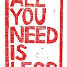 Less is More #2 | De Groene Meisjes