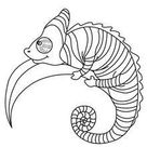 Chameleon picture coloring pages - Hellokids.com
