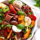 Sommerlicher Nektarinen-Ziegenkäse-Salat mit bunten Tomaten - Kochkarussell