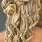 Half Up Hairstyles That Are Pretty For 2021 : Messy bun & Half up half down