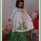Easter Dress Toddler Girls, Easter Bunny Dress for Toddlers, Mint Green, Some Bunny is One Birthday Dress