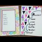 Border Design for School Projects/How to Decorate Front Page of File/Project Border by Arty & Crafty