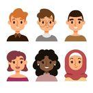 People Avatars Illustrated Concept