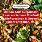 Quinoa-Fans, aufgepasst: Lasst euch diese Bowl mit Kichererbsen & Linsen nicht entgehen! 🤡