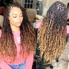 Distressed Locs Styles  Ideas for Natural Faux Locs   Jorie Hair