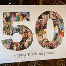 Personalized 50th birthday photo collage gift, Custom 50th anniversary photo collage