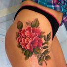 Floral Thigh Tattoos
