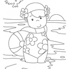 A girl with a beach ball coloring pages   Download Free A girl with a beach ball coloring pages for kids