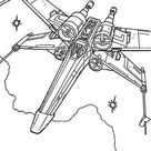 X Wing Fighter In Star Wars Coloring Page - Download & Print Online Coloring Pages for Free