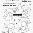 """Tracey Hey """"Paddle Pals"""" A5 Stamp Set"""