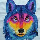 Space wolf. Cross Stitch Pattern. Digital. PDF and CSSaga. | Etsy