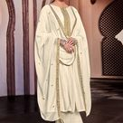 Off white cotton silk palazzo suit 1883