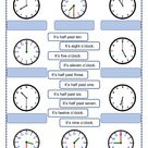 Time online exercise for Elementary