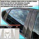 fits BUICK RENDEZVOUS 2002 2003 2004 2005 2006 2007 real black carbon fiber window pillar posts   6 pcs