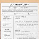 Project manager Resume Template for Word, Professional, Creative, Modern Resume Design, Cover Letter, CV Design, Simple, Clean, Minimalist